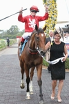 Trainer Donna Logan and Volkstok'n'barrell